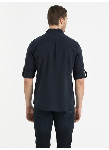 Loft Uzun Kollu Gömlek Lacivert